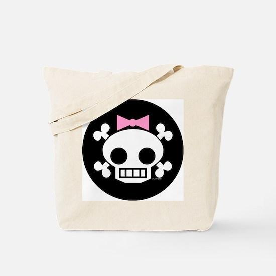 Hair Bow Skull Tote Bag