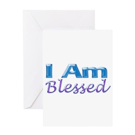 I Am Blessed Greeting Card