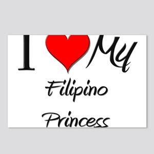 I Love My Filipino Princess Postcards (Package of