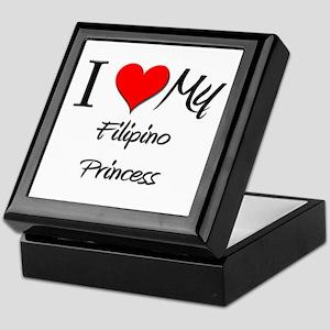 I Love My Filipino Princess Keepsake Box