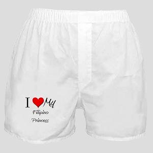 I Love My Filipino Princess Boxer Shorts