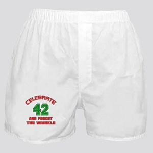 Celebrate 42 And Forget The Wrinkle Boxer Shorts