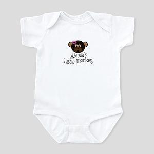 Abuela's Little Monkey GIRL Infant Bodysuit