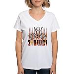 3 DEUCE Women's V-Neck T-Shirt