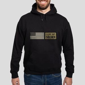 U.S. Army: I Love My Soldier Hoodie (dark)