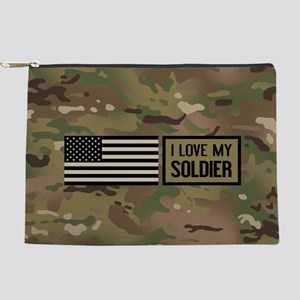 U.S. Army: I Love My Soldier (Camo) Makeup Bag
