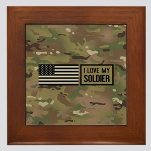 U.S. Army: I Love My Soldier (Camo) Framed Tile