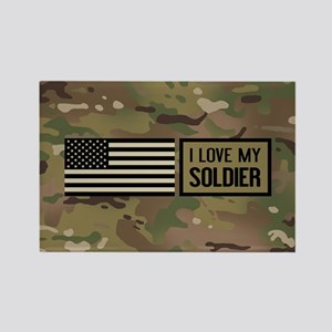 U.S. Army: I Love My Soldier (Cam Rectangle Magnet