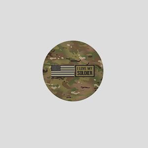 U.S. Army: I Love My Soldier (Camo) Mini Button