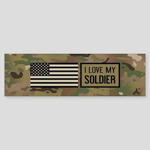 U.S. Army: I Love My Soldier (Cam Sticker (Bumper)