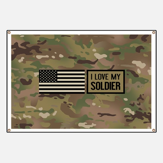 U.S. Army: I Love My Soldier (Camo) Banner