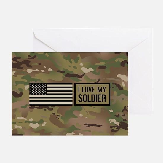 U.S. Army: I Love My Soldier (Camo) Greeting Card