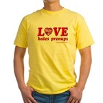 Love Hates Prenups Yellow T-Shirt