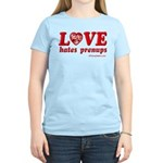 Love Hates Prenups Women's Light T-Shirt