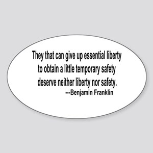 Essential Liberty Oval Sticker
