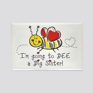 Bee Big Sister Rectangle Magnet