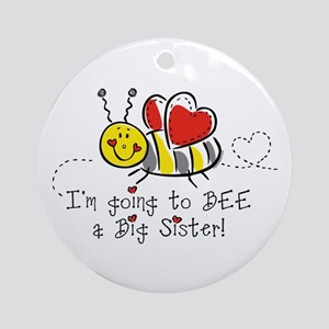 Bee Big Sister Ornament (Round)