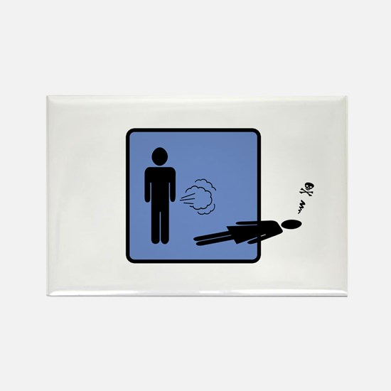 The Fart Of Death Rectangle Magnet