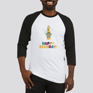 Happy Beerday Beerbottle Chnp3 Baseball Jersey