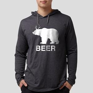 Beer. Bear with Deer Antlers Long Sleeve T-Shirt