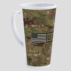 U.S. Army: Black Flag (Camo) 17 oz Latte Mug
