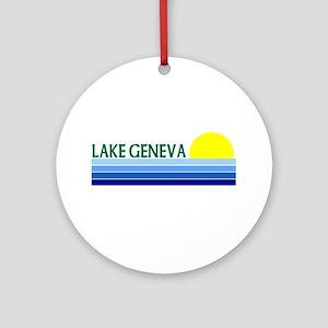 Lake Geneva Ornament (Round)