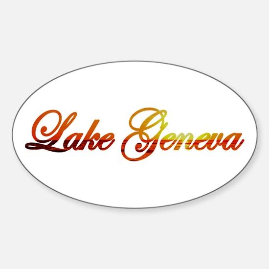 Lake Geneva Oval Decal
