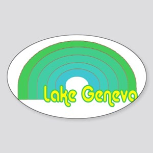 Lake Geneva Oval Sticker