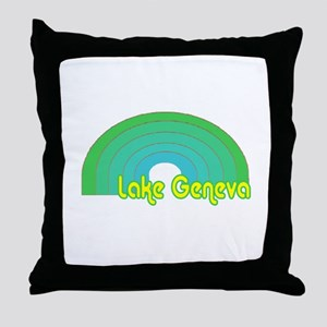 Lake Geneva Throw Pillow