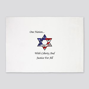 One Nation Jewish 5'x7'Area Rug