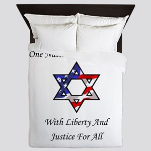 One Nation Jewish Queen Duvet