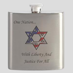 One Nation Jewish Flask