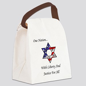 One Nation Jewish Canvas Lunch Bag