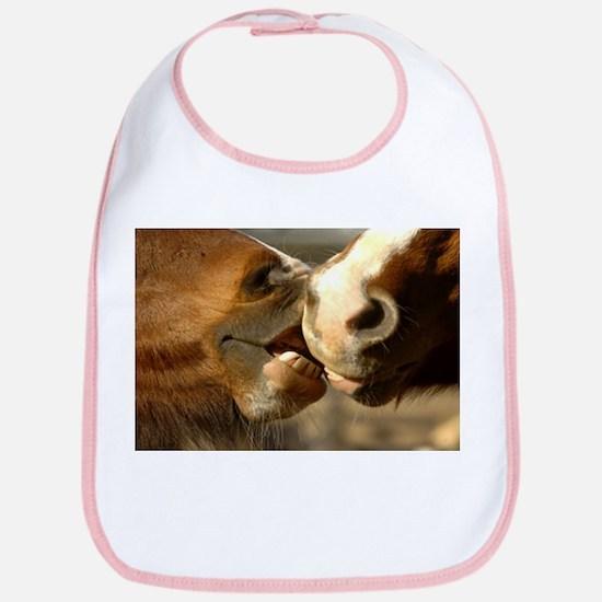 Kissing Horses Bib