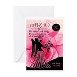 Virgo Birthday For Her Pink August Greeting Cards