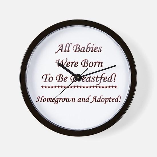 Adoptive Breastfeeding Wall Clock