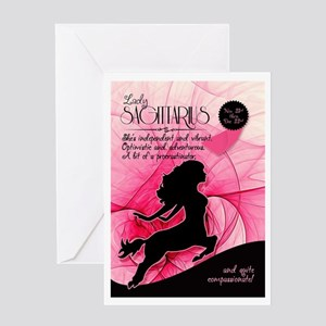 Sagittarius Birthday For Her Pink Greeting Cards