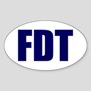 FDT Oval Sticker