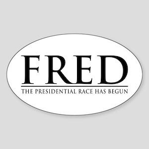 The Race Has Begun Oval Sticker
