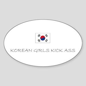 Korean Girls Oval Sticker