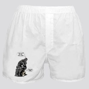 The Thinker & his Dog Boxer Shorts