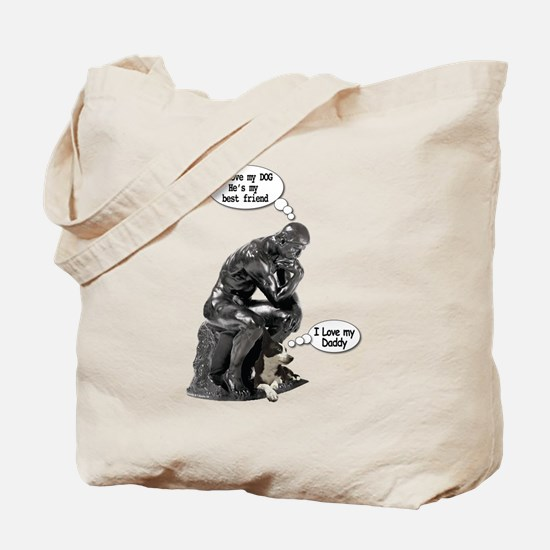 The Thinker & His Dog Tote Bag