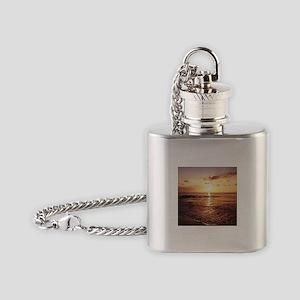 Maui Sunset Hawaiian Flask Necklace