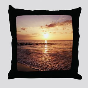 Maui Sunset Hawaiian Throw Pillow
