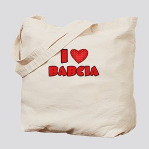I heart Babcia Tote Bag