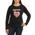 Pink Litter Heart Logo Long Sleeve T-Shirt