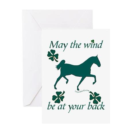 Saddlebred and Shamrocks Greeting Card