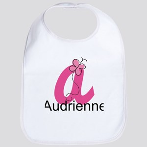 Personalized Monogram Letter A Butterfly Baby Bib