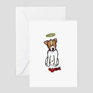 Jack Russell - Angel - Greeting Card