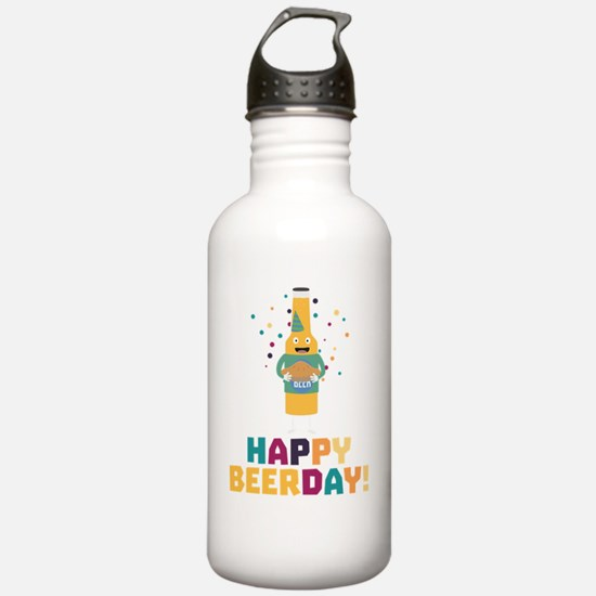 Happy Beerday Beerbott Water Bottle